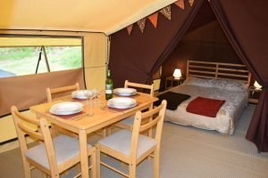 Inside Lodge Tent