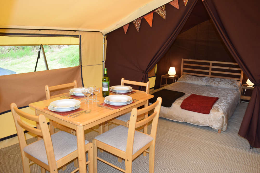 Inside Lodge Tent