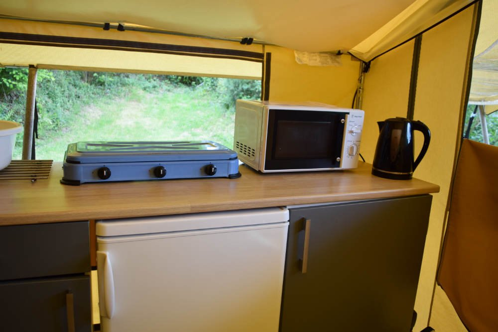 kitchen in lodge tent